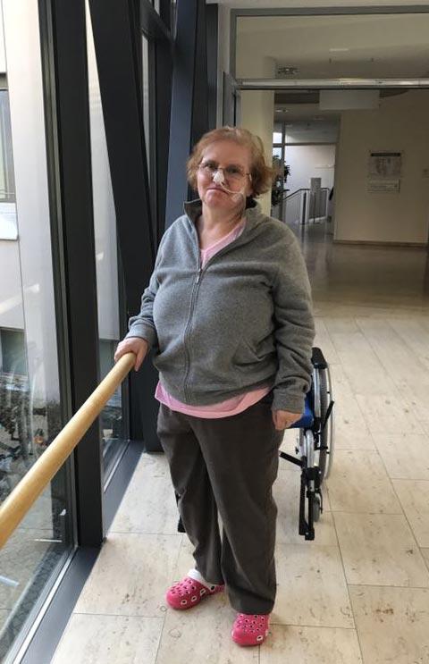 Kranke Mutter im Krankenhaus