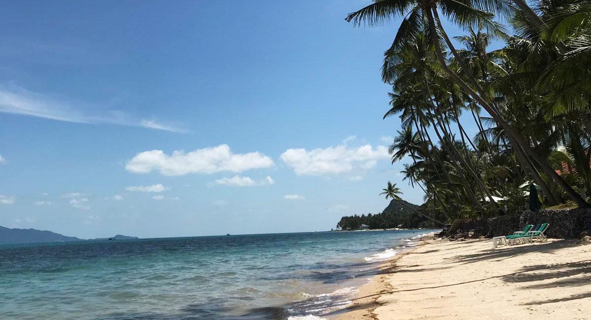 Aussicht auf den Strand und das Meer